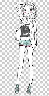 Drawing Illustration Simple Pen Fashion Girl Png Clipart Free