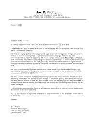 business letter recommendation business letter  business recommendation