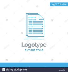 Bill Logo Design Blue Logo Design For Bill Excel File Invoice Statement