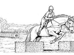 Disegno Cavallo Da Coloraredisegno Cavallo Salta Ostacoli Da