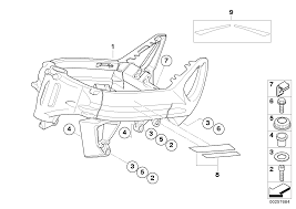 Front frame mounting parts