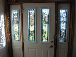 Single Glass Front Doors With White Wooden Frames And Double Glass