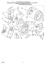 whirlpool wp3387134 dryer cycling thermostat appliancepartspros part diagram