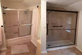 tub to shower conversion before after