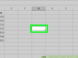 How To Plan A Vacation Using A Spreadsheet 10 Steps