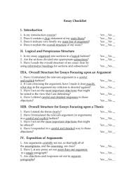 checklist for a philosophy essay epistemology essay checklist