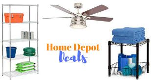 right now you can grab some nice deals from the home depot save on up to 75 off garage shelves and racks and ceiling fans