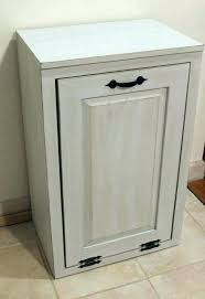 Wood Trash Can Bin Kitchen Garbage Cabinet Beautiful Tilt Out Wooden With  Lid Plans Tr Double