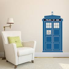 marvellous design doctor who wall art modern house tardis color vinyl decal stickers canvas e wooden