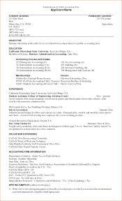 Accounting Intern Resume Berathen Com