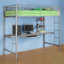 metal bunk bed with desk. Plain Bunk Full Size Loft Bed With Desk  Underneath Double  Frame On Metal Bunk With S