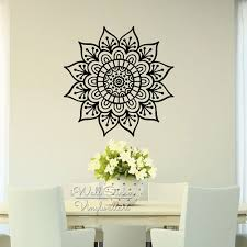 amazing mandala wall sticker modern flower decal diy image for decor concept and cherokee trend indian