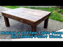 this nifty instructional demonstrates exactly how to transform an old wooden pallet into a reclaimed coffee table a table like this would be perfect