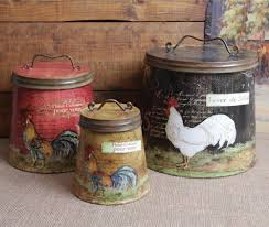 Rustic Kitchen Canister Sets Tin Kitchen Canisters Get Organized Set Of 4 Tin Kitchen