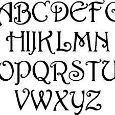 fun free alphabet stencil cool lettering designs free art deco with cool letter designs 600x600