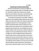 comparison between dickinson s because i could not stop for death comparative essay walt whitman and emily dickinson