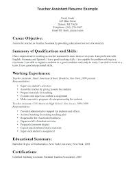 Example Of A Objective For A Resumes Objective In A Resume Sample Emelcotest Com