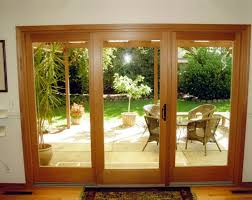 awesome three panel sliding glass patio doors 3 panel sliding within 3 door patio slider