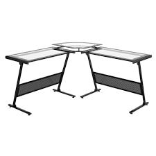 z line designs delano glass l shaped desk
