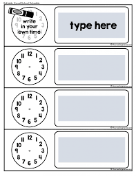 Classroom Routine Chart Visual School Schedule Free This Reading Mama