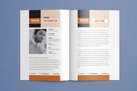Resume Booklet Template Best of Resume Booklet Modern CV Professional And Creative InDesign