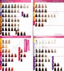 Socolor Hair Color Chart New Matrix Colorsync Chart