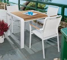 Tavolo Da Terrazzo In Legno : Tavolo da giardino in alluminio bianco niagara pircher