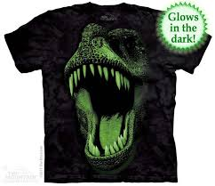 <b>Big Face Glow</b> Rex T-shirt | Adult Dinosaur T-shirts | The Mountain®
