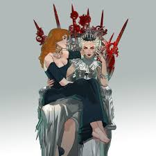 art by mimibou evangeline samos and elane haven both from the red queen series by victoria aveyard redqueen