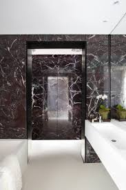 ... Collection Of Marble Bathroom Ideas : Black Marble Bathroom Exit  Passage Design ...