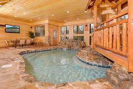 gatlinburg one bedroom cabin with indoor pool. bedroom pigeon forge tn cabins copper river in with pool access gatlinburg cabin rentals private one indoor