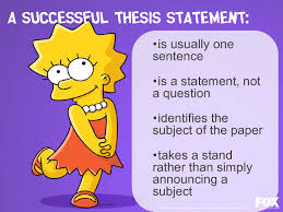 Which Best Describes A Strong Thesis Statement In An Informative