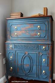 dark mahogany furniture. distressed furniture blue heavily chippy pieces so much better pictures dark mahogany a
