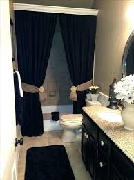 black bathroom sets bathroom sets with shower curtain and rugs and accessories best black bathroom decor