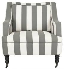 blue and white accent chair. Accent Chairs. Color: Greyish Blue / White Stripe And Chair