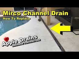 channel drain pool deck drain diy