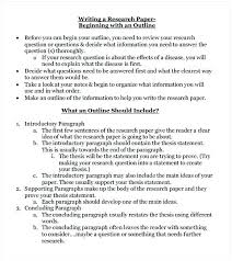 Research Paper Outline Template Technical White Royaleducation Info