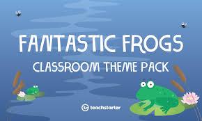 Frog Themed Behavior Chart Frogs Classroom Theme Pack Teach Starter