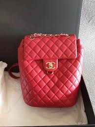 chanel urban spirit backpack. 100% authentic chanel red quilted lambskin urban spirit backpack goldtone hw chanel urban spirit backpack