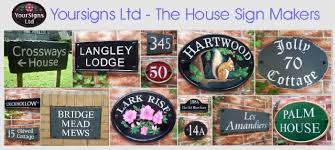 Small Picture House Signs