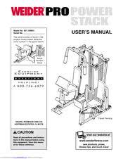 Weider Pro Power Stack 831 159831 User Manual Pdf Download