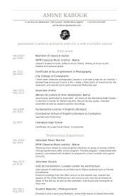 Preschool Teacher Resume Guitar Instructor Cover Letter Awesome Collection Of Resume Guitar