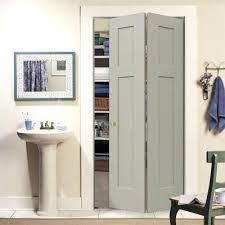 bifold bathroom door craftsman desert sand painted smooth molded posite closet bi fold door the home bifold bathroom door
