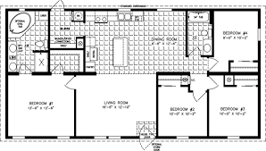 4 bedroom floor plan.  Floor Manufactured Home Floor Plan The Imperial Limited U2022 Model IMLT45215B 4  Bedrooms  Inside Bedroom Plan O