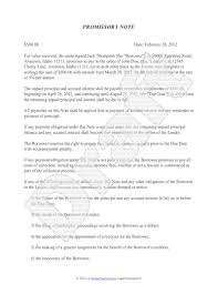 Promissory Note Template For Family Member Promissory Note Template Free Sample Promissory Note
