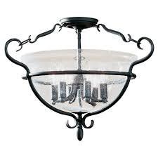 sea gull lighting 7700 07 manor house 6 light semi flush mount weathered iron