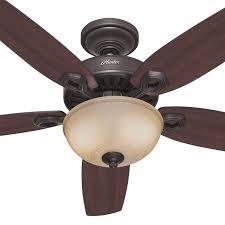 builder deluxe ceiling fan with light in new bronze 52 hunter