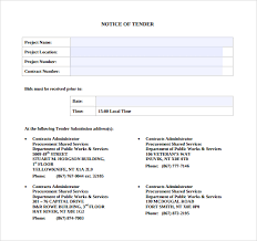 Tender Document Template Impressive 44 Sample Tender Documents PDF Sample Templates