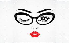 Find & download free graphic resources for glasses. Women S Face Girl In Glasses Graphic By Svg Den Creative Fabrica