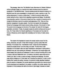 commentary on a passage taken from the blindfolded horse  page 1 zoom in